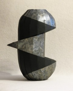 Double diagonal shift 240x300 New work: Double diagonal shift vase