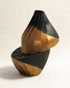 Gold diagonal shift 238x300 New work: Gold diagonal shift vase