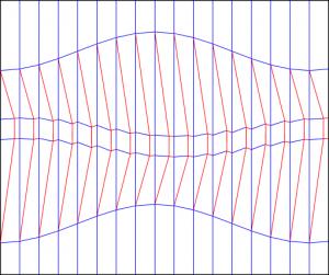 Double diagonal shift variant 2 300x251 Crease patterns: Diagonal shift variants