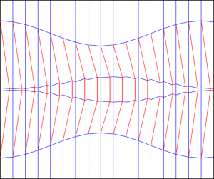 Double diagonal shift variant 300x251 Crease patterns: Diagonal shift variants