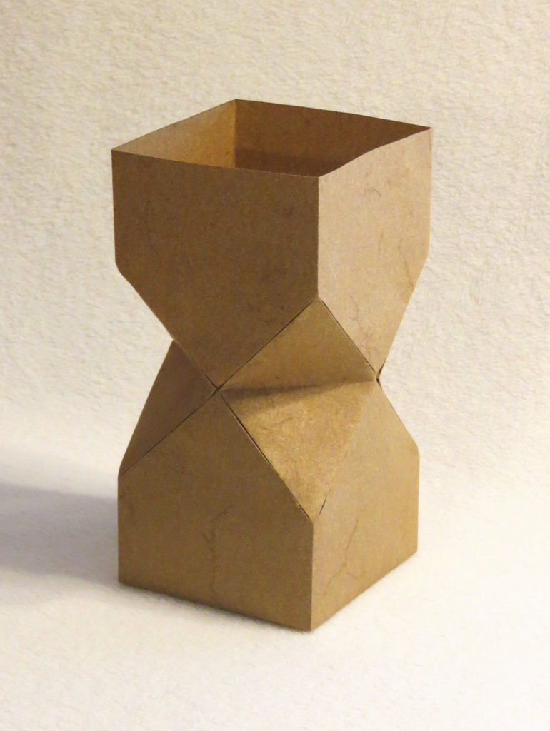 Square vase with inset sides